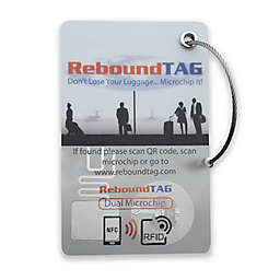 ReboundTAG Microchip Luggage Tag in White