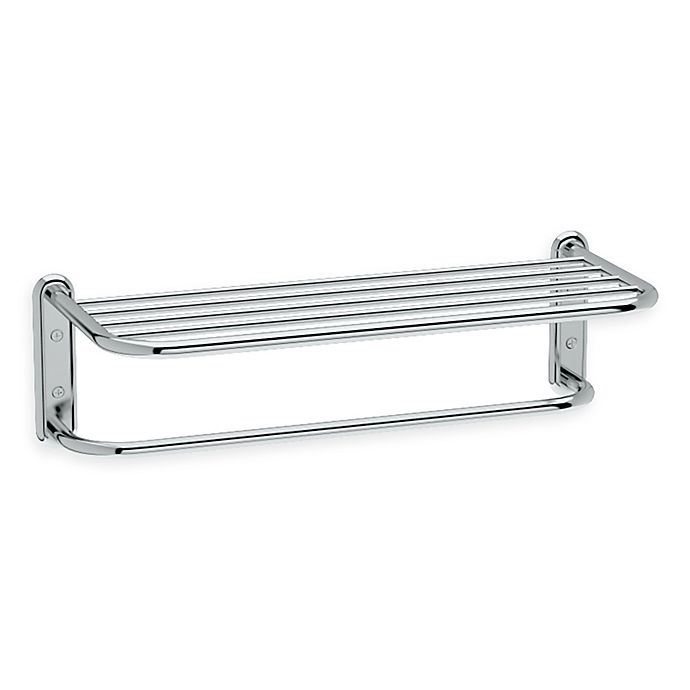 Gatco 174 21 5 Inch Metal Spa Rack With Towel Bar In Chrome