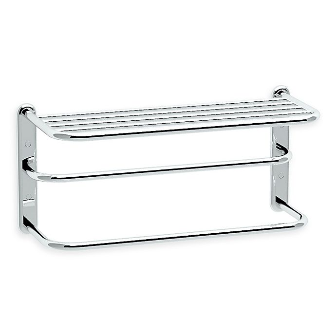 Alternate image 1 for Gatco® 21.63-Inch Metal Spa Rack with Double Towel Bar