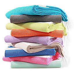 Linum Home Textiles Diamond Pestemal Beach Towel