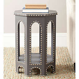 Safavieh Nara End Drum  Table in Grey