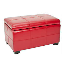 Safavieh Madison Small Storage Bench in Red