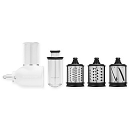 KitchenAid® 5-Piece Fresh Prep Slicer/Shredder Attachment Set in White