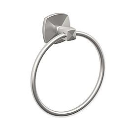 Gatco® Jewel Towel Ring in Satin Nickel