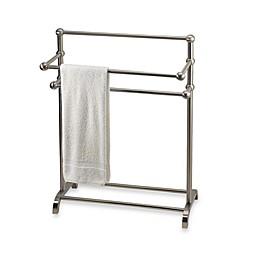 3-Tier Free Standing Towel Stand in Satin Nickel