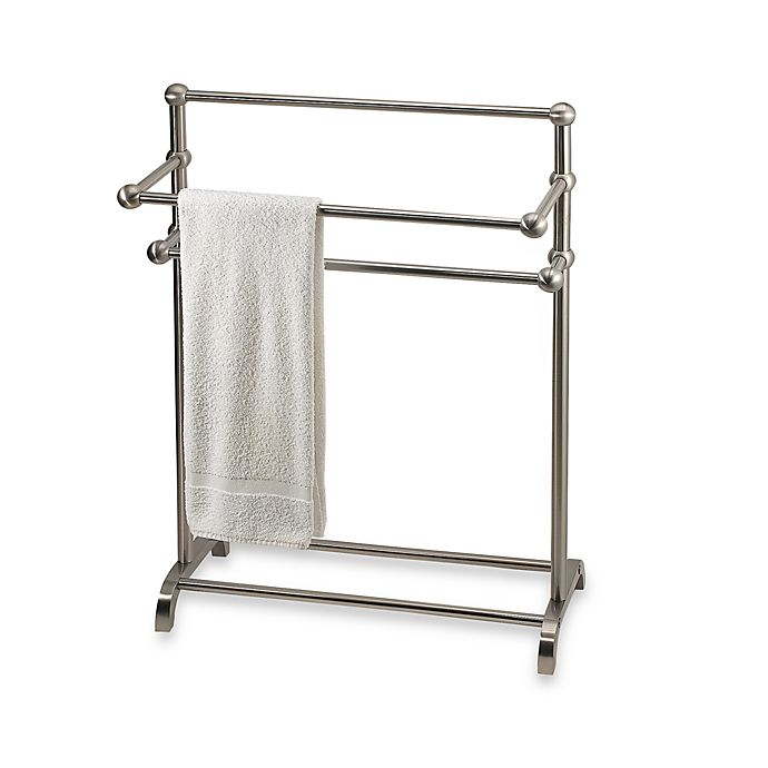 Alternate image 1 for 3-Tier Free Standing Towel Stand in Satin Nickel