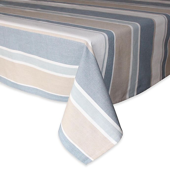 Alternate image 1 for Park B. Smith® Julian Stripe Tablecloth in Blue