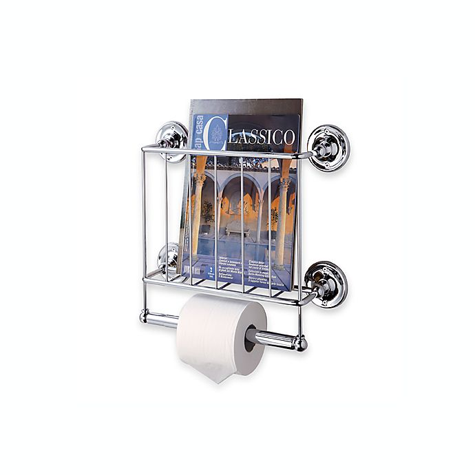 Chrome Wall Mount Magazine Rack Bed