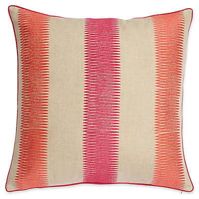 Harlequin Paradise 20-Inch Square Throw Pillow in Pink/Linen