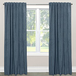 Skyline Room Darkening Velvet Rod Pocket/Back Tab Window Curtain Panel