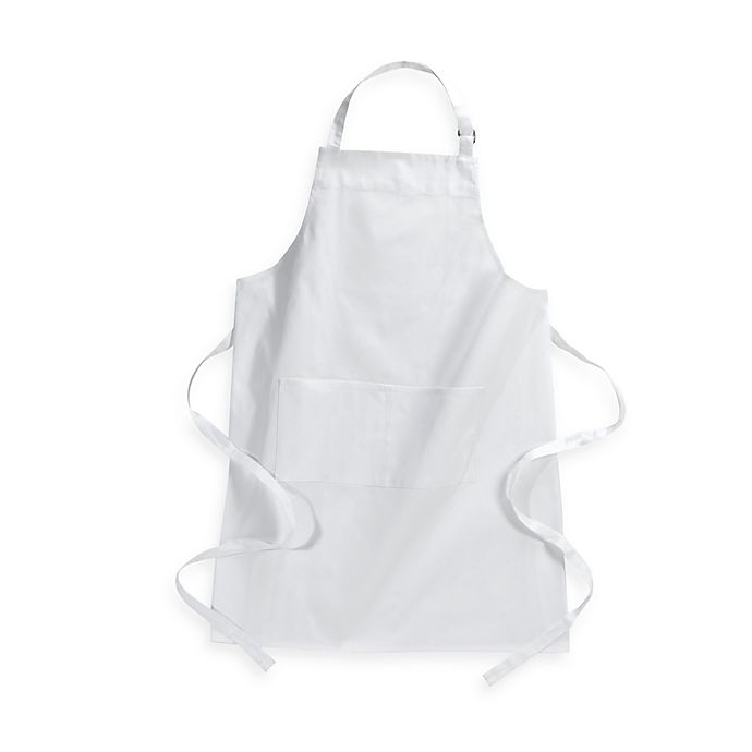 Alternate image 1 for Kitchensmart® Solid Apron in White