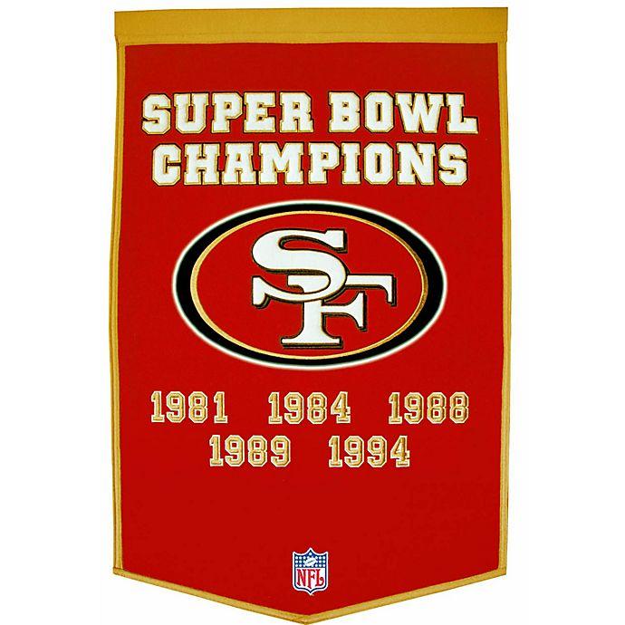 Alternate image 1 for NFL San Francisco 49ers Dynasty Banner