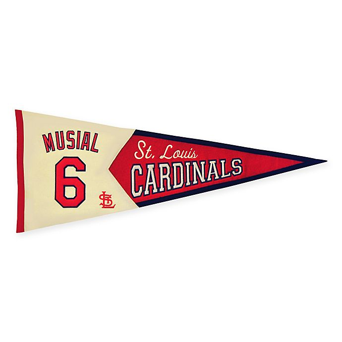 Alternate image 1 for MLB St. Louis Cardinals Stan Musial Legends Pennant