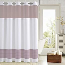 Hookless® Aruba Pleats Color Block Shower Curtain