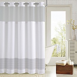 Hookless® Aruba Pleats Color Block Shower Curtain