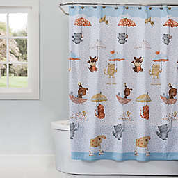 Saturday Knight Raining Cats and Dogs Shower Curtain