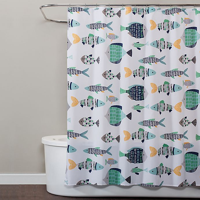 Alternate image 1 for Saturday Knight Wave Runner Shower Curtain