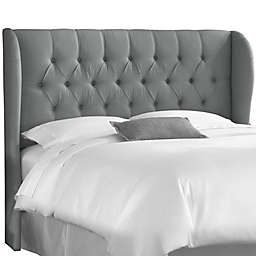 Skyline Furniture Sydney Tufted Queen Headboard in Grey