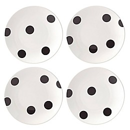 kate spade new york All in Good Taste™ Deco Dot Tidbit Plates (Set of 4)