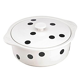 kate spade new york All in Good Taste Deco Dot Casserole with Lid in Black/White