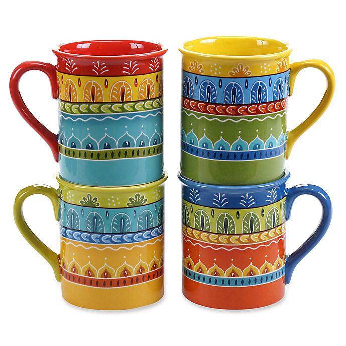 Alternate image 1 for Certified International Valencia 16 oz. Mugs (Set of 4)