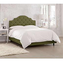 Kingsbury Tufted Linen King Bed in Olive