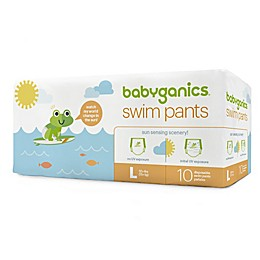 Babyganics® 10-Count Large Color Changing Disposable Swim Diapers