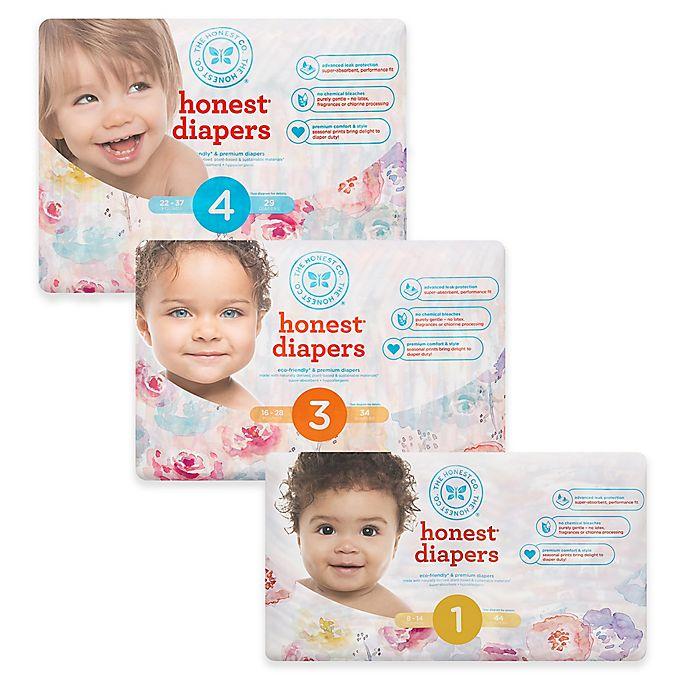 Alternate image 1 for Honest Diapers in Rose Blossom Pattern