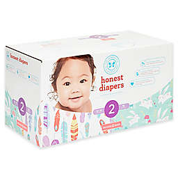 Honest 76-Pack Size 2 Diapers in Feathers & Bunnies Patterns