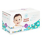 Honest 76-Pack Size 2 Diapers in Trains & Breakfast Patterns