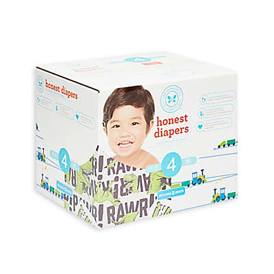 Honest 60-Pack Size 4 Diapers in T-Rex & Trains Patterns