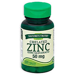 Nature's Truth® 100-Count Zinc 50 mg Chelated Supplements Tablets