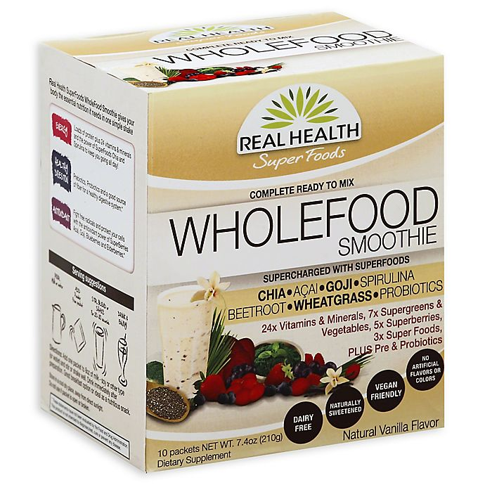 Real Health Super Foods 10-Count WholeFood Smoothie in Natural