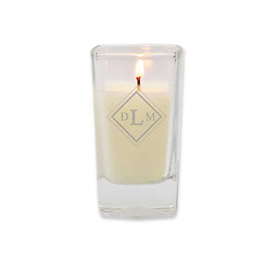 Carved Solutions Eco-Luxury Collection Diamond Soy Jar Candle in White
