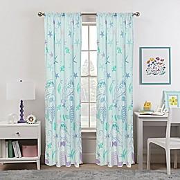 Kidz Mix Mystical Mermaid 84-Inch Window Curtain Panel Pair in Blue