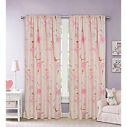 Kidz Mix Dancing Ballerina 84-Inch Window Curtain Panel Pair in Pink
