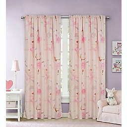 Kidz Mix Dancing Ballerina 84-Inch Window Curtain Panel Pair in Pink
