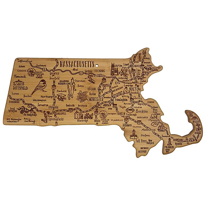 Alternate image 1 for Totally Bamboo Destination Massachusetts Cutting/Serving Board