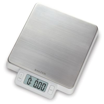 Salter® High Precision Stainless Steel Digital Kitchen Food Scale in White