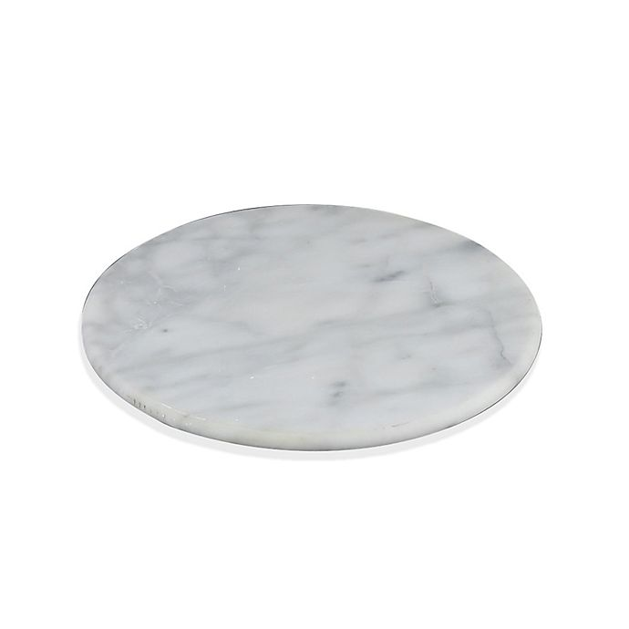Artisinal Kitchen Supply Marble Trivet In White Bed Bath