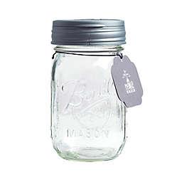 reCAP® Flip 16 oz. Mason Jar with Lid in Silver