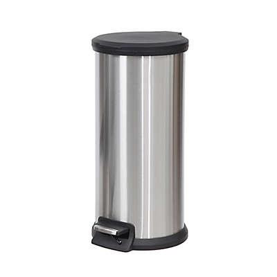 SALT™ Round 30-Liter Step-On Trash Can in Silver/Grey