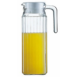 Arc International Quadro 37-Ounce Glass Pitcher with Lid