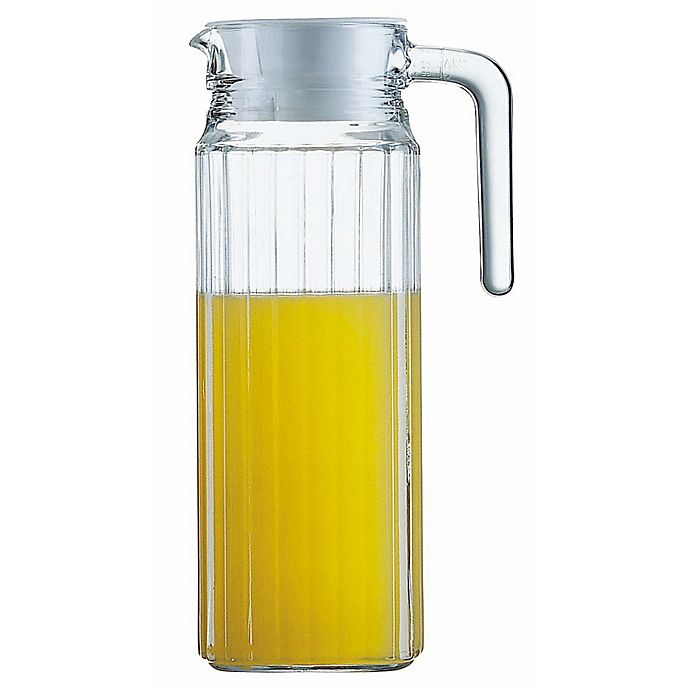 Alternate image 1 for Arc International Quadro 37-Ounce Glass Pitcher with Lid