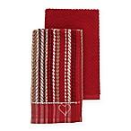 ED Ellen DeGeneres™ 2-Pack Kitchen Towels Set in Red