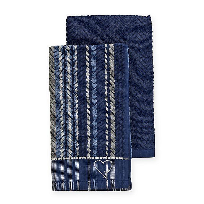 Alternate image 1 for ED Ellen DeGeneres™ 2-Pack Kitchen Towels Set in Blue