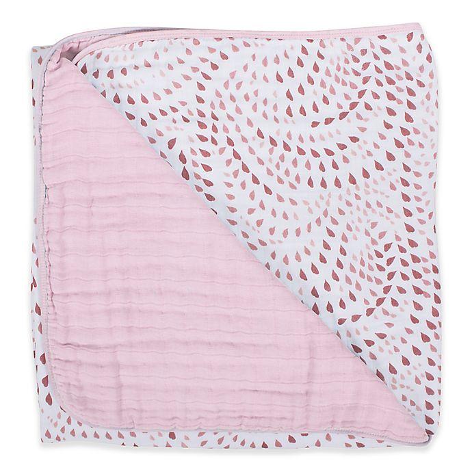Alternate image 1 for Bebe Au Lait® Muslin Snuggle Blanket in Rose Quartz/Petal