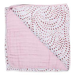 Bebe Au Lait® Muslin Snuggle Blanket in Rose Quartz/Petal