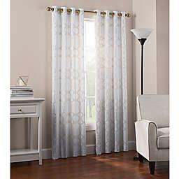 Newport Wave Light-Filtering Grommet Top Window Curtain Panel