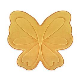 Laura Ashley Butterfly Memory Foam 30-Inch x 30-Inch Bath Rug